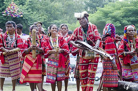Bagobo people with their instruments at the Kadayawan Festival. Bagobo people in the Kadayawan Festival 2016, Philippines.jpg