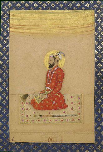 Bahadur Shah I - Image: Bahadur Shah, ca. 1670, Bibliothèque nationale de France, Paris