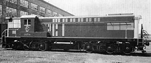 Baldwin AS-616 - Baldwin model AS-616 diesel-electric locomotive as delivered to the Estrada de Ferro Central do Brasil.
