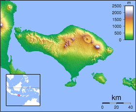 Map showing the location of Taman Nasional Bali Barat