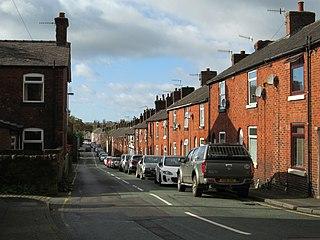 Ball Haye Green village in United Kingdom