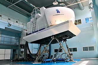 Flight simulator - Full flight simulator of a Boeing 737
