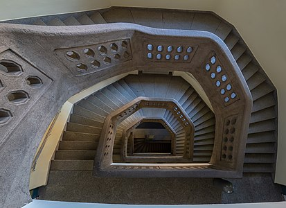 Staircase of the Wilhelmspost in Bamberg