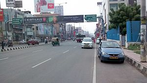 Mahatma Gandhi Road, Vijayawada - Bandar Road in 2014
