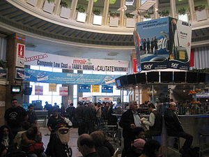 Aurel Vlaicu International Airport - Interior of the terminal in 2007