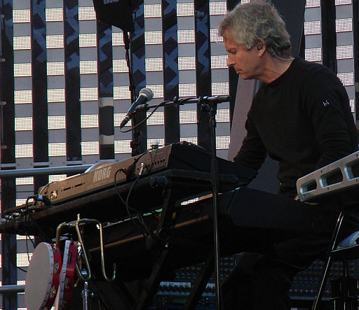 Tony Banks performing with Genesis