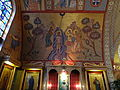 Baptism of Jesus ceiling mosaic mural; Transfiguration Greek Orthodox Church; Lowell, MA; 2012-05-19.jpg