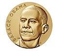 Barack Obama (First Term) Bronze Medal, 3 Inch, obverse.jpg