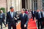 Barack Obama and Nicolas Sarkozy in Strasbourg April 2009