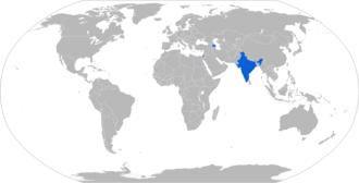 Barak 8 - Map with Barak 8 operators in blue (doesn't include Azerbaijan)