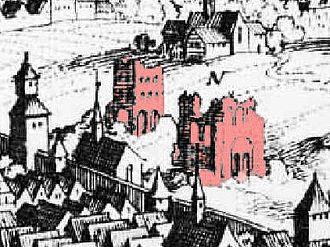 Barbara Baths - Image: Barbarathermen Trier Merian 1646(1548)