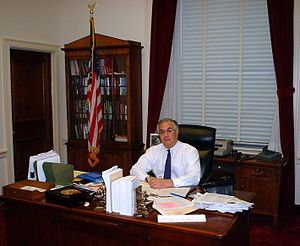 Barney Frank - Frank in his congressional office in 2002