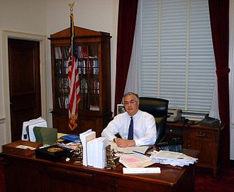 Barney Frank - Frank in 2002 in his congressional office