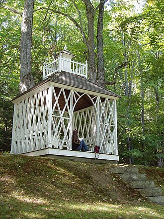 Barrett House (New Ipswich, New Hampshire) - The summerhouse at the top of the allée.