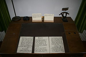 Safenwil - Some of Karl Barth's writings at the Karl-Barth-Stube museum