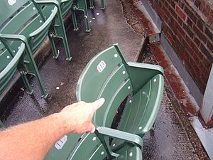 Steve Bartman incident - Steve Bartman seat, Aisle 4, Row 8, Seat 113.