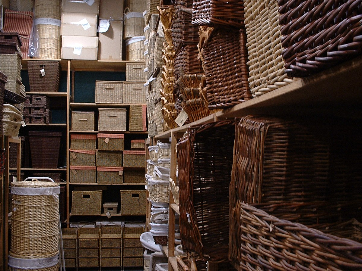 Hamper wiktionary for Wicker meaning