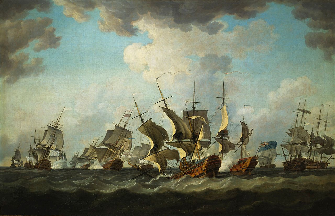 Le Glorieux - 1/150e - Heller  1280px-Bataille_des_Cardinaux_en_1759_peinte_par_Richard_Paton