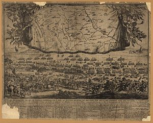 Battle of Ameixial - 17th-century Portuguese engraving depicting the Battle of Ameixial