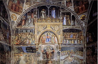 Padua Baptistery - One of the frescoed walls.