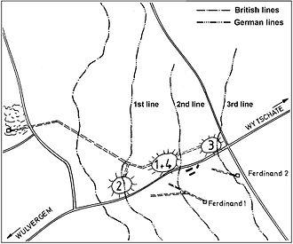 Mines in the Battle of Messines (1917) - Image: Battle of Messines 1917 mine plan Kruisstraat