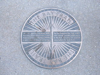 San Francisco Bay Trail - Bay Trail plaque, Embarcadero, SF