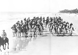 Carolina Marsh Tacky - A mounted beach patrol on Hilton Head Island during World War II