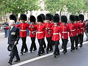 Irish Guards, wearing bearskins