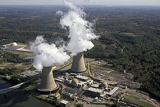 Beaver Valley Nuclear Power Station - Aerial photograph of the power plant
