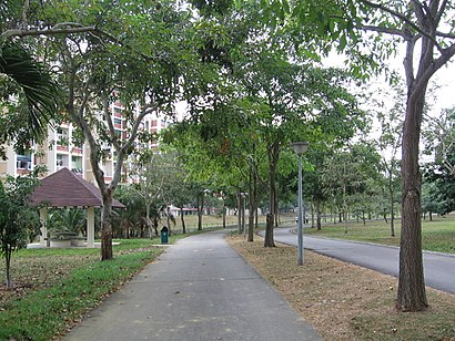 How to get to Bedok Town Park with public transport- About the place