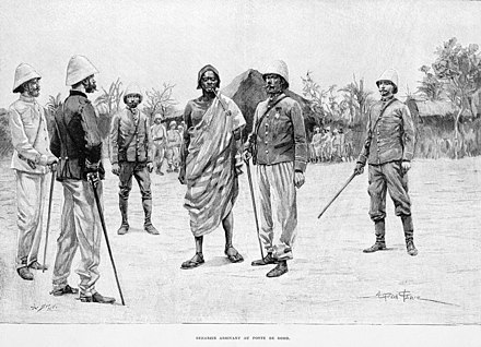 In 1894, the last King of Dahomey, Behanzin, surrendered his person to Alfred-Amedee Dodds Behanzin-Goho-1895.jpg
