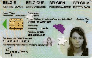 Belgian national identity card Belgian ID card