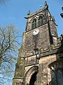 Bell tower of St Mary's church, Sandbach - geograph.org.uk - 1265090.jpg