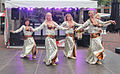Belly dancers dancing in a group monuments day Spijkenisse.jpg