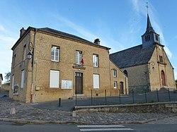 Belval (Ardennes) mairie et église.JPG