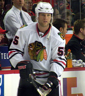 Ben Eager - Eager during his tenure with the Chicago Blackhawks.