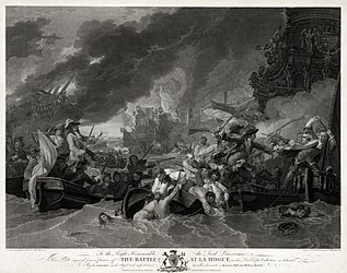 The Battle at La Hogue