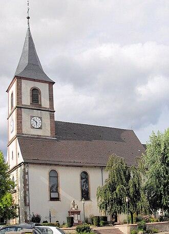 Berrwiller - The church Holy-Brigitte of Ireland