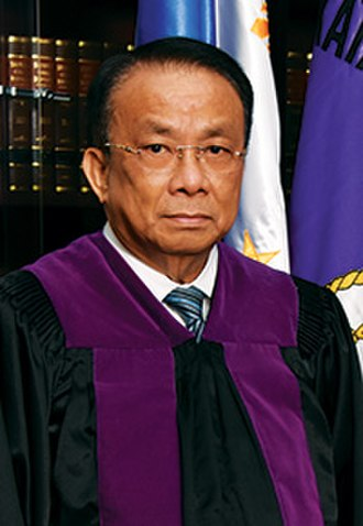 Chief Justice of the Supreme Court of the Philippines - Image: Bersamin in robes