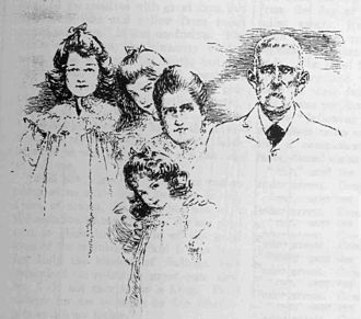 Bertoleoni family - King Carlo I, royal consort Maddalena Favale, and three Ladies of the Sea (Hale, 1904).