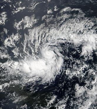 2018 Atlantic hurricane season - Image: Beryl 2018 07 06 1350Z