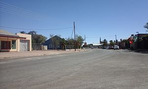 Bethanie, Namibia - Main road of the village in 2016