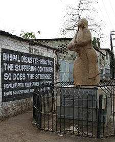 Bhopal memorial for those killed and disabled by the 1984 toxic gas release