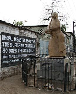 Bhopal disaster gas leak incident in Bhopal, India