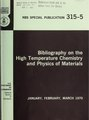 Bibliography on the high temperature chemistry and physics of materials, January, February, March 1970 (IA bibliographyonhi3155diam).pdf