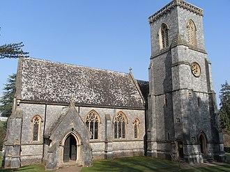 Bicton, Devon - Bicton Parish Church of St Mary, built in 1850