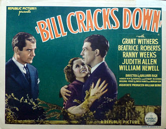 Ranny Weeks - Lobby card for Bill Cracks Down with Weeks on the far right