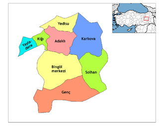 Genç, Bingöl - Bingöl county's districts.