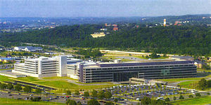 Defense Intelligence Agency - Bird's eye view of DIA HQ from the Potomac in Washington, DC