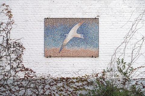 Bird mosaic by Jean-Michel Folon